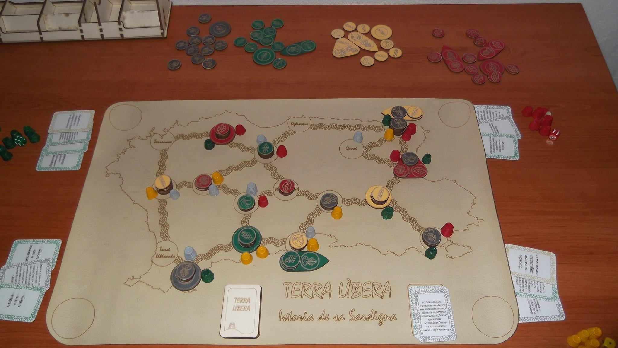 Terra Lìbera. La storia della Sardegna è il nuovo gioco da tavola