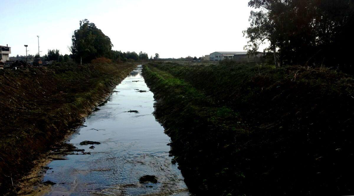 Lavori di pulizia del Rio Malu