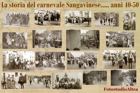 La storia del Carnevale Sangavinese... anni '40 e '50