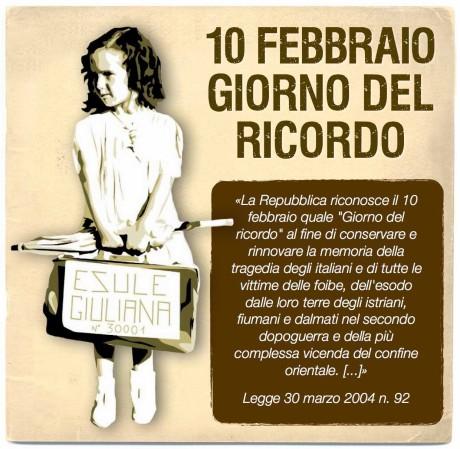 10 Febbraio giorno del ricordo