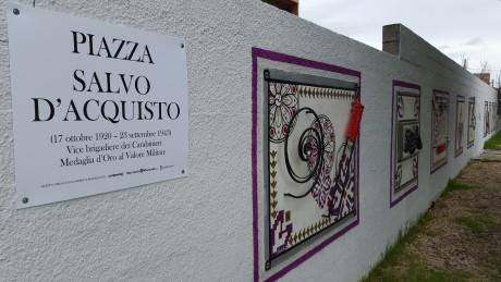Una targa per Piazza Salvo D'Acquisto