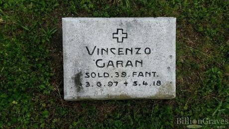 Vincenzino Garau, un sangavinese caduto in guerra