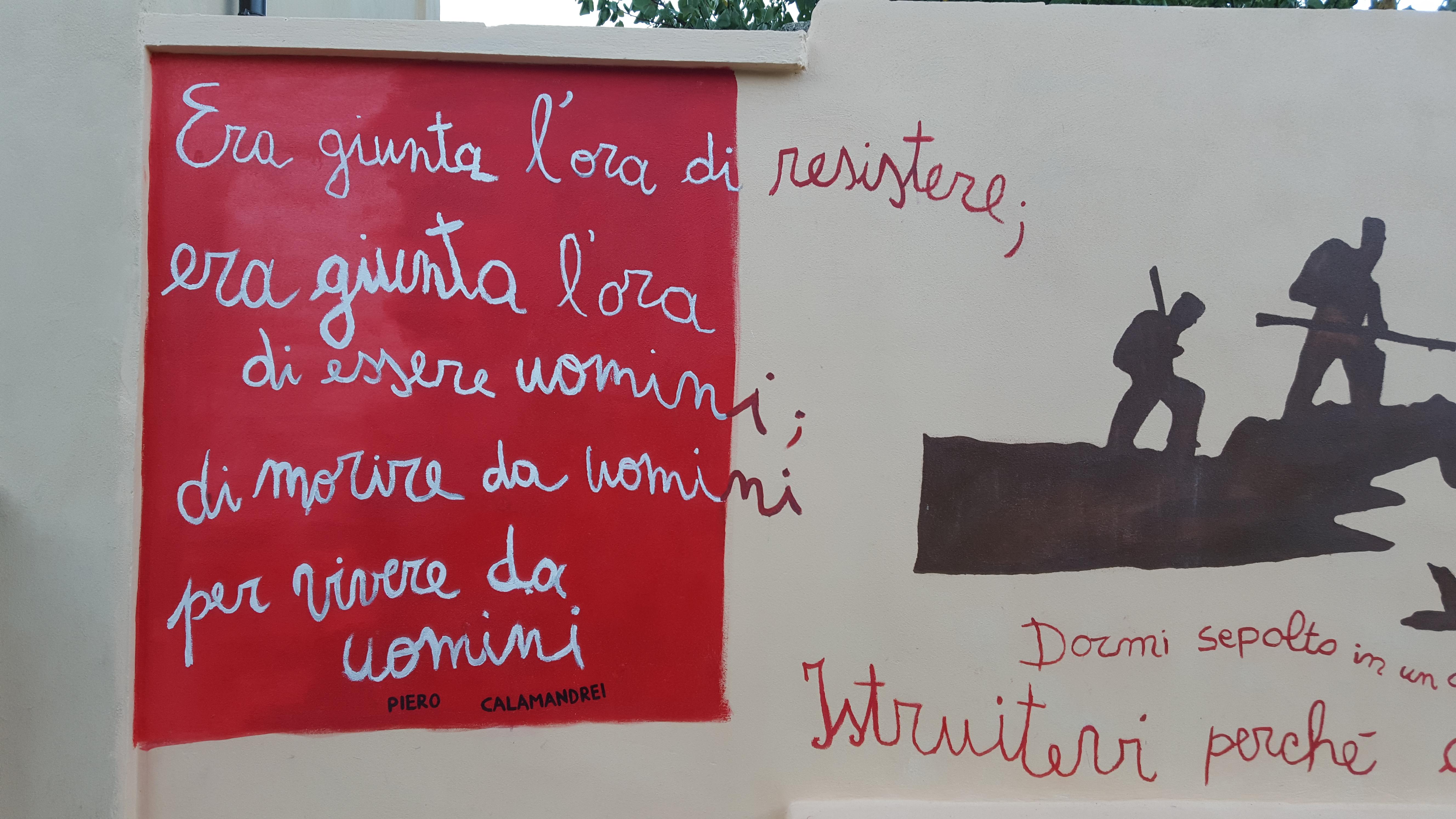 Murale in Piazza della Resistenza