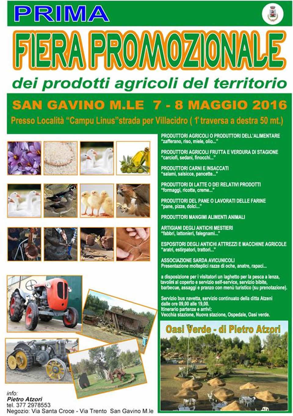 1° Fiera Promozionale dei prodotti agricoli del territorio