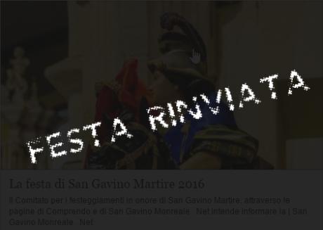 Festa di San Gavino Martire rinviata