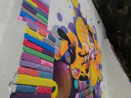 Un nuovo murale in via Mameli