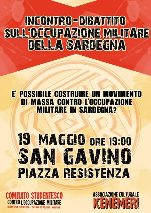 Incontro-Dibattito sull'occupazione militare della Sardegna