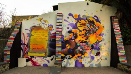 Un murale in via Mameli