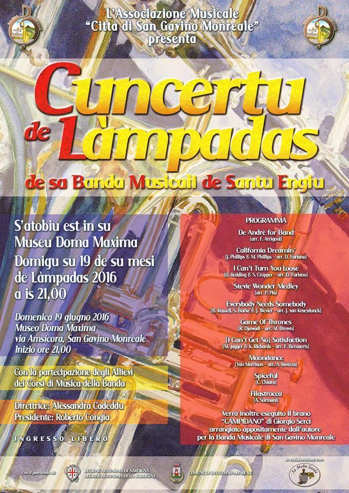 Concertu de Làmpadas- Concerto di inizio estate