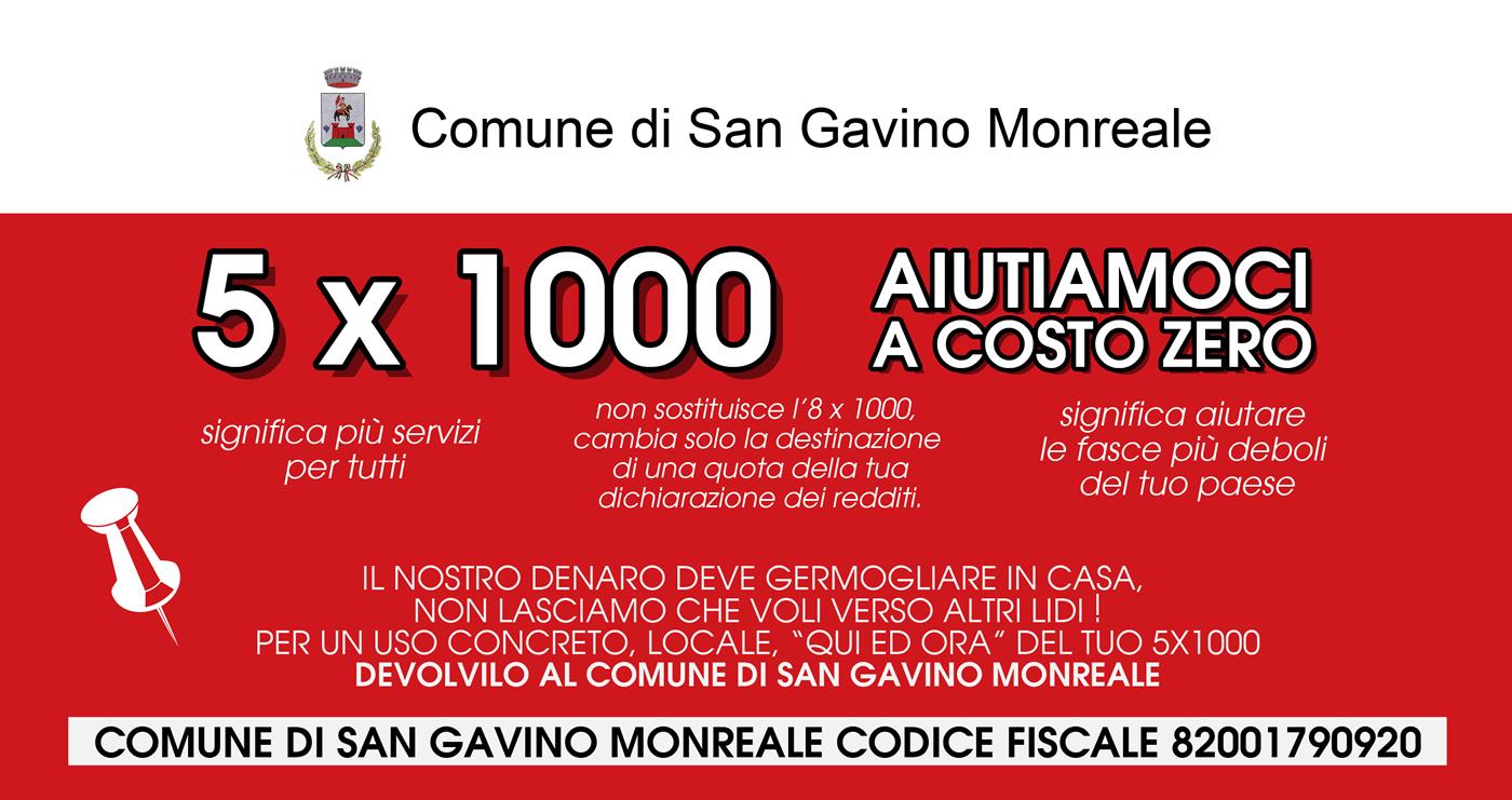 Il 5x1000 al Comune di San Gavino Monreale