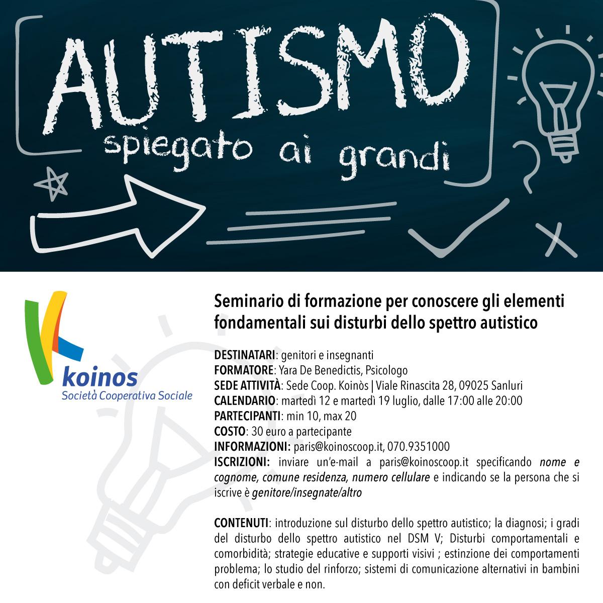 Seminari formativi su DSA e autismo