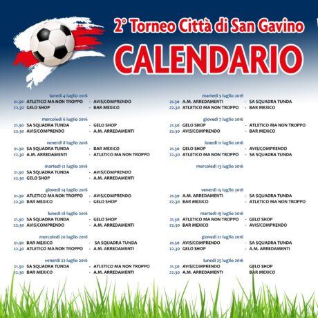 Torneo Città di San Gavino Over 35, il calendario completo