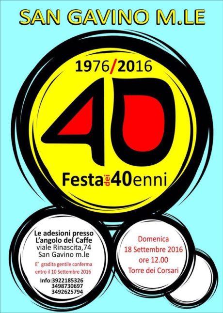La festa dei 40enni, nati nel 1976