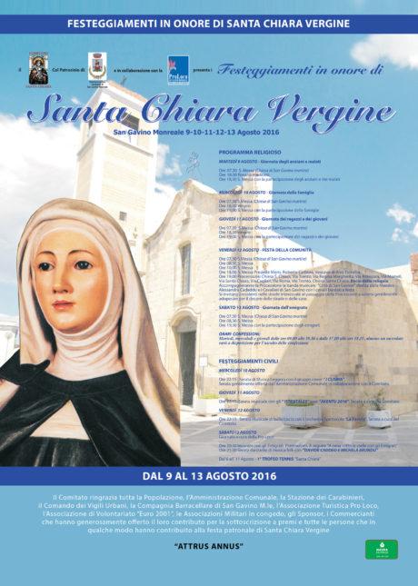 La festa di Santa Chiara Vergine 2016