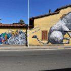 Murales realizzato dall'artista Ericailcane in via Torino, angolo viale Trieste.
