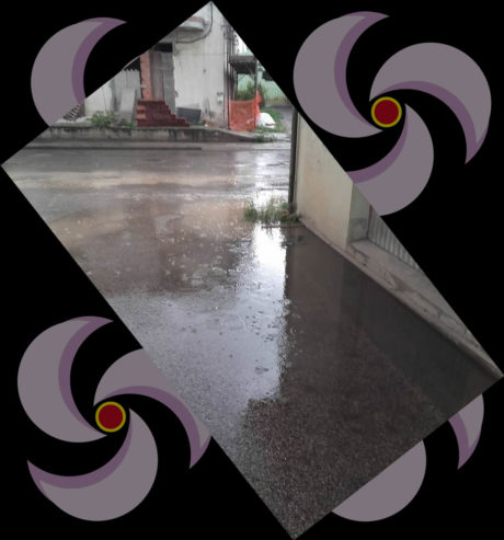 Erba nei tombini e prime piogge
