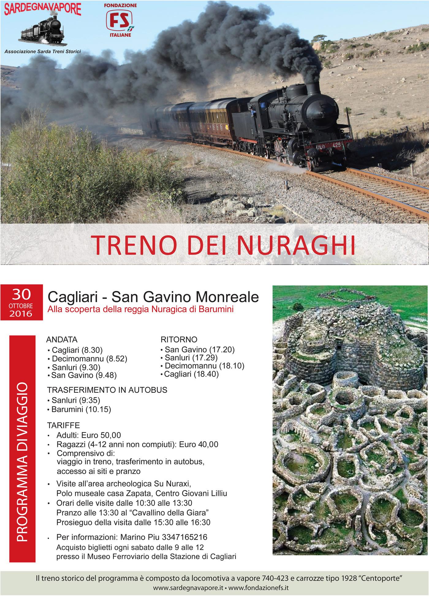 """""""Il Treno dei Nuraghi"""" da Cagliari a San Gavino Monreale"""