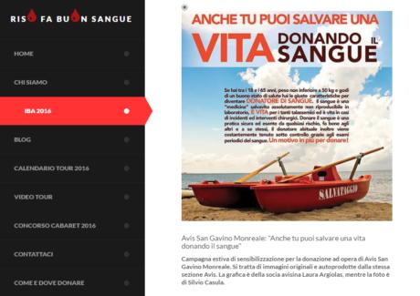 Italian Blood Awards: aiutiamo l'AVIS di San Gavino Monreale a vincere il concorso!