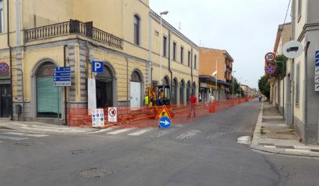 I marciapiedi di viale Trieste