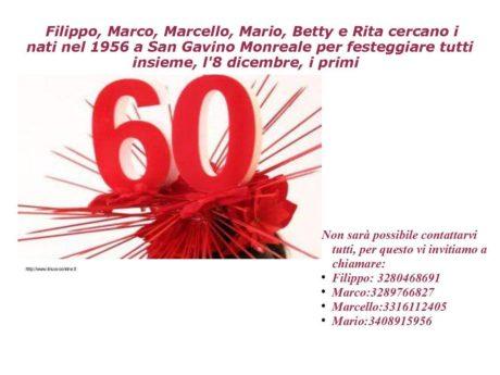 Festa dei 60enni, adesioni entro il 26 novembre