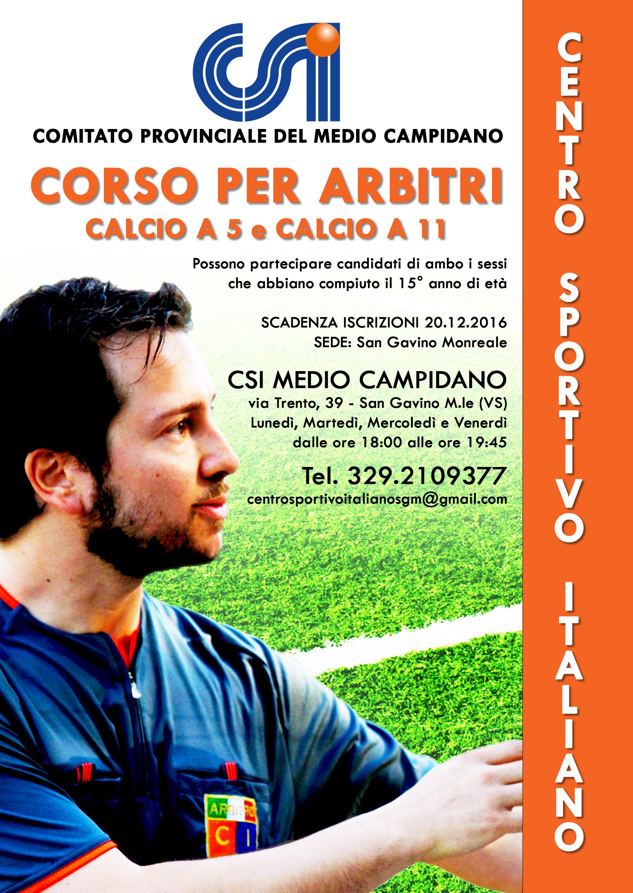 Corso per Arbitri di Calcio a 5 e Calcio a 11