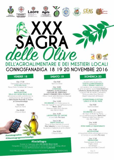 XXX Sagra delle Olive a Gonnosfanadiga