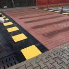 Via Trento, un dissuasore per ridurre la velocità delle auto
