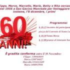 Festa dei 60enni, il programma della giornata