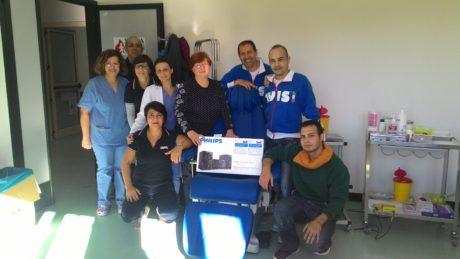 Un dono al centro trasfusionale