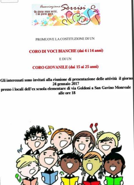 L'Associazione Sòrrisi per la costituzione di un coro giovanile