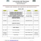 Università del Monreale: lezioni nel mese di Gennaio 2017