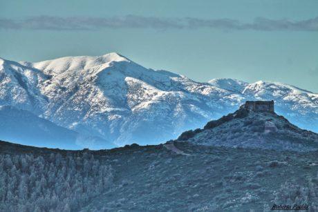 Il Castello di Monreale e la neve