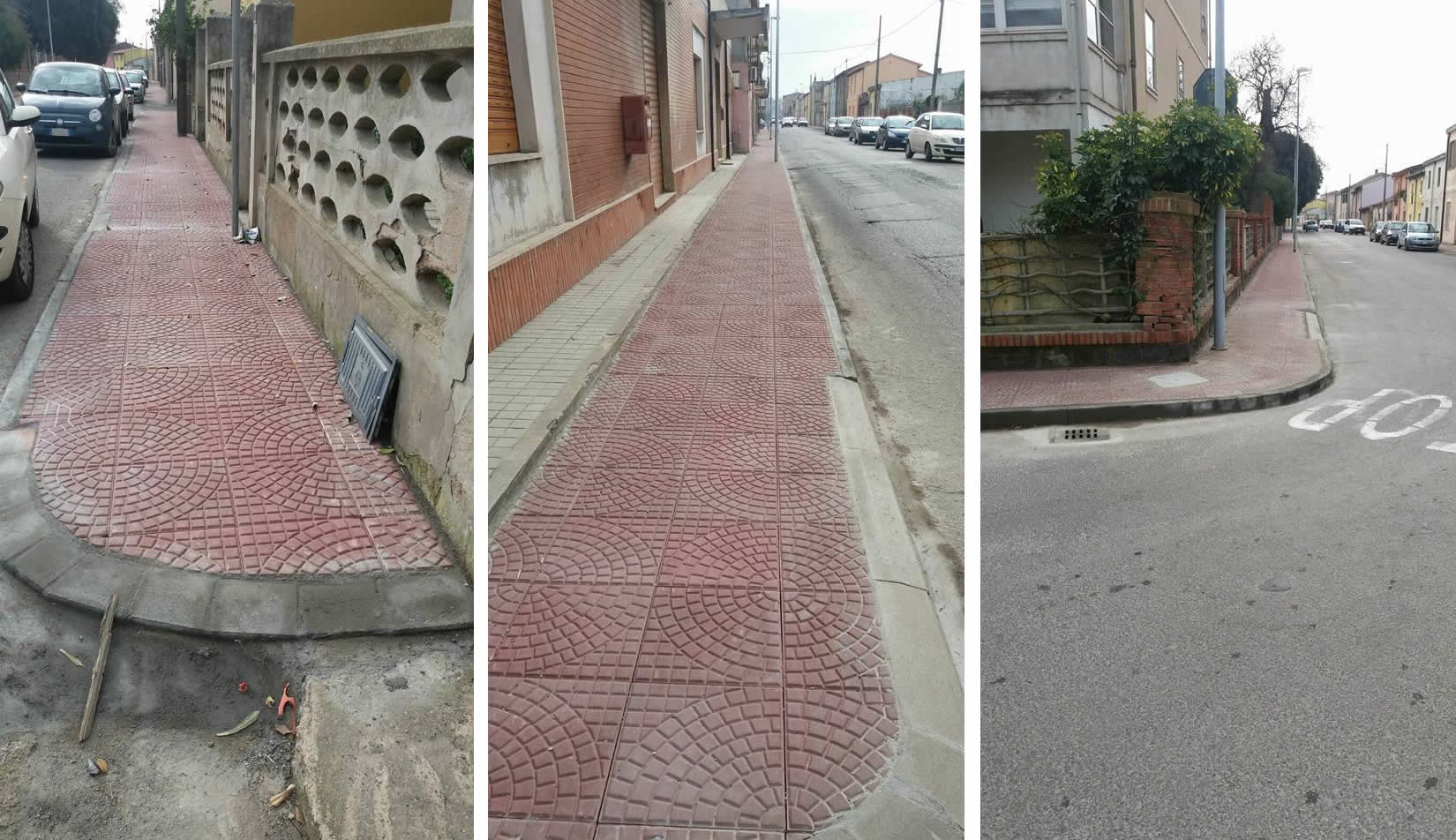 Viale Trieste, ecco i nuovi marciapiedi