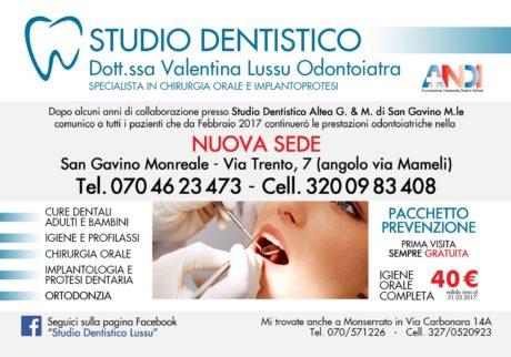 Nuovo studio dentistico a San Gavino