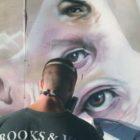 Un murale di Skan in via Torino