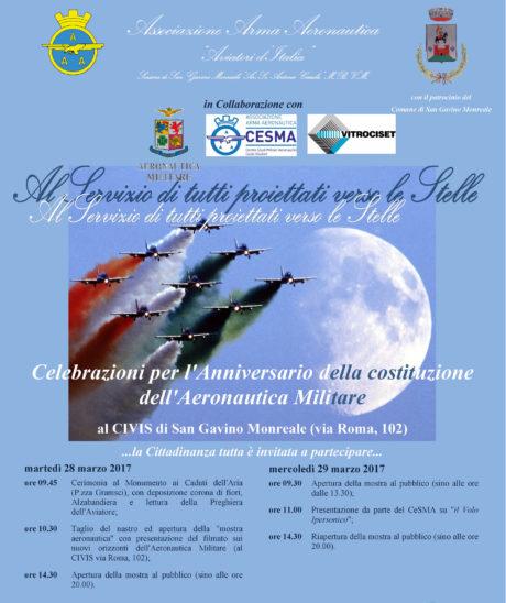 San Gavino Monreale celebra il 94° Anniversario della costituzione dell'Aeronautica Militare