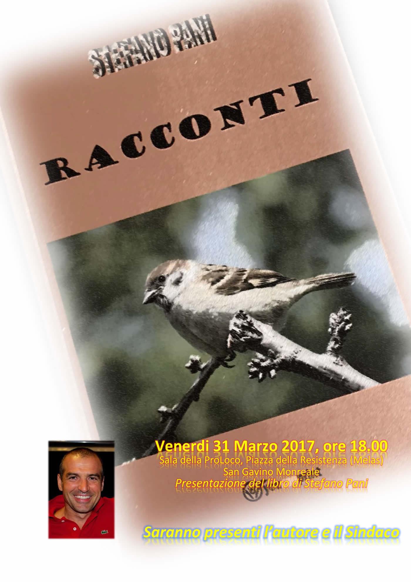 """Presentazione del libro """"Racconti"""" di Stefano Pani"""
