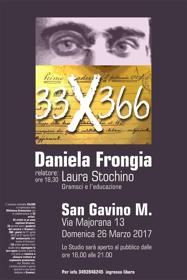 33x366: Daniela Frongia Ospita Gramsci a San Gavino