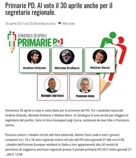 Primarie del PD a San Gavino Monreale