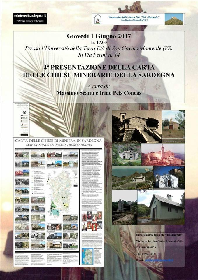4° Presentazione della Carta delle Chiese Minerarie della Sardegna
