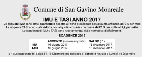 Scadenze IMU e TASI anno 2017