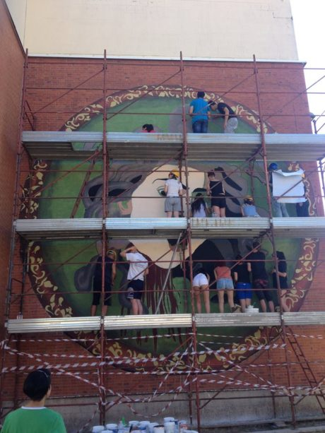 Murale Liceo San Gavino