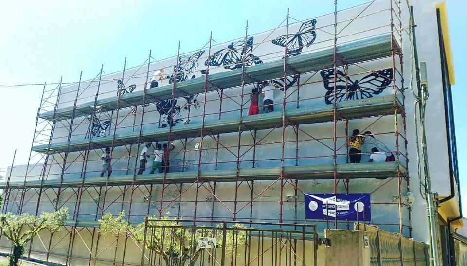 Nuovo murale di Giorgio Casu, l'anteprima dei lavori