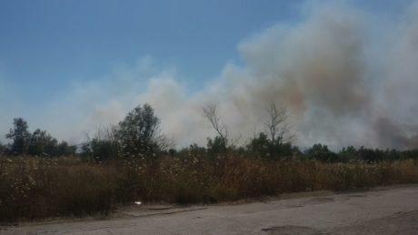 Incendio a San Gavino Monreale