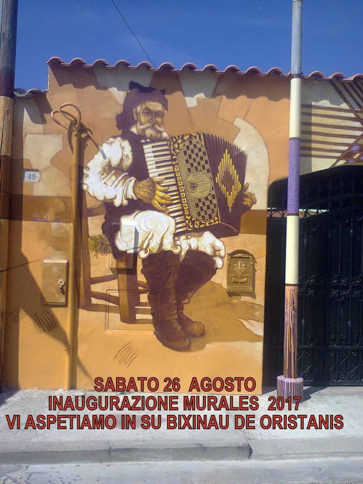 Bixinau de Oristanis, inaugurazione murales 2017