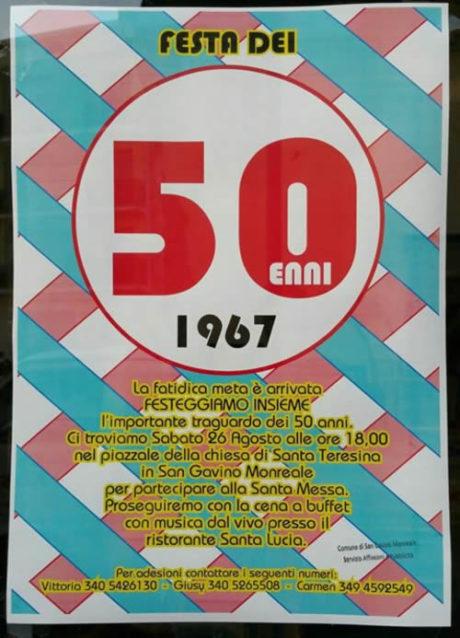 Festa dei 50enni nati nel 1967