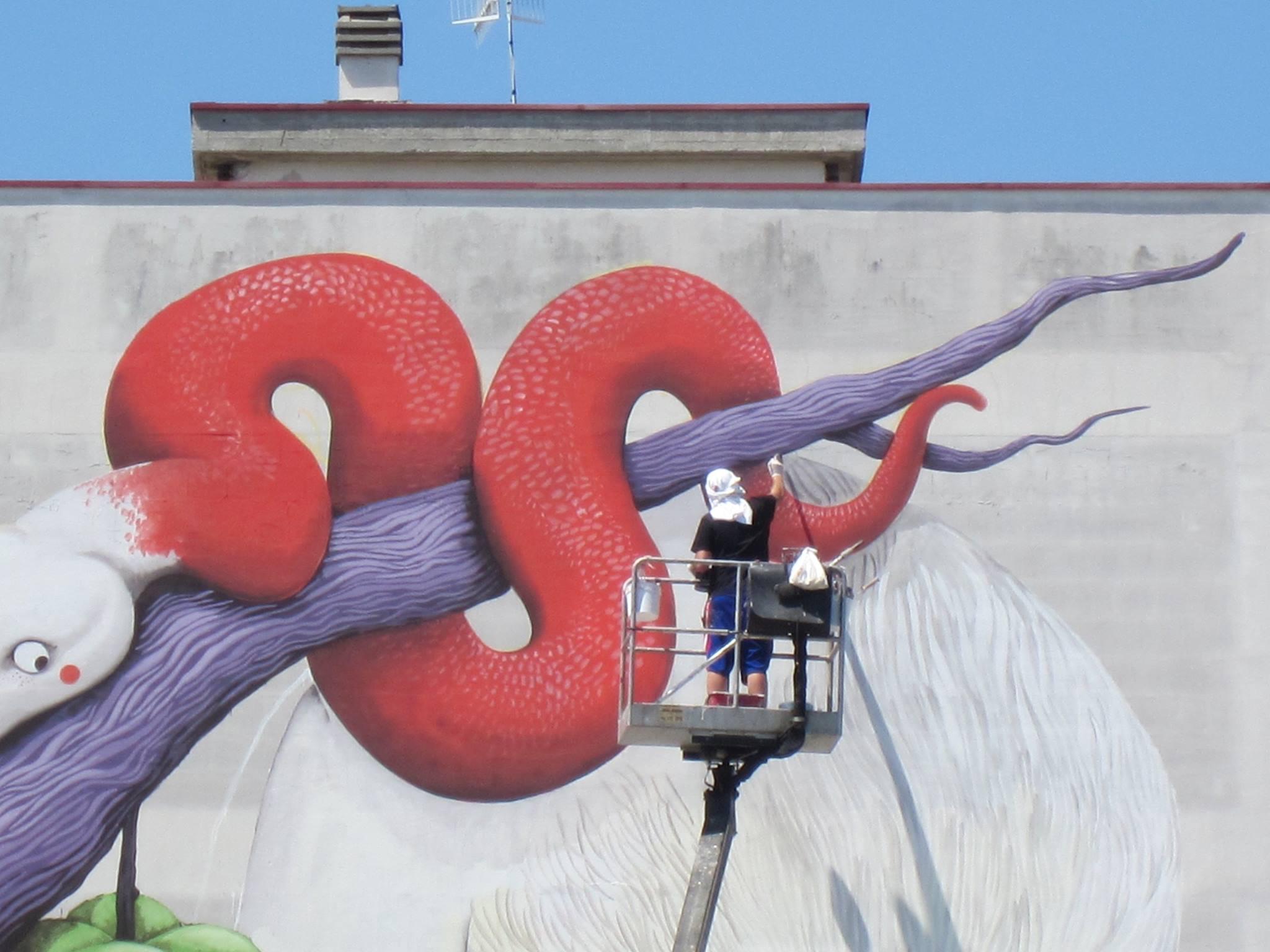 Street art insieme a Zed1