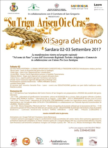 A Sardara il 2 e il 3 settembre la sagra del pane