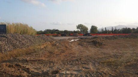 Lavori per la nuova rotatoria nell'incrocio per Villacidro, le prime foto