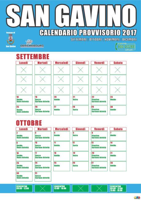 Raccolta rifiuti, modifiche al calendario dal 18 settembre